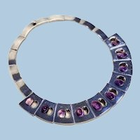 Antonio Pineda Silver and Amethyst Necklace
