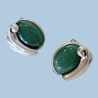 Antonio Pineda Silver and Aventurine Quartz Earrings