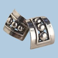 Margot de Taxco Silver Earrings No. 5247