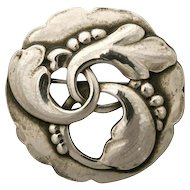Georg Jensen Sterling Silver Brooch No. 20