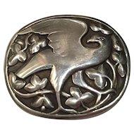 Georg Jensen Sterling Silver Eagle Brooch No. 166