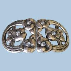 Evald Nielsen 830 Silver Rare Belt Buckle with Moonstones