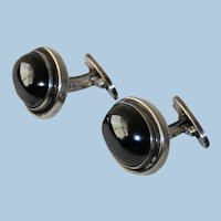 Georg Jensen Sterling Silver Cufflinks No 44A With Hematite