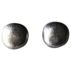 John Iversen Sterling Silver Pebble Earrings