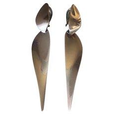 Georg Jensen Sterling Silver Dangle Earrings No. 128A by Nanna Ditzel