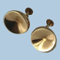 Georg Jensen Earring No. 1136C 18K Gold by Nanna Ditzel