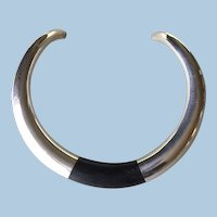 Georg Jensen Sterling Silver and Ebony Neck Ring No. A29A by Anne Ammitzbøll