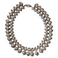 Margot de Taxco Sterling Silver Modernist Necklace
