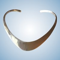 Ronald Hayes Pearson Sterling Silver Neck Ring
