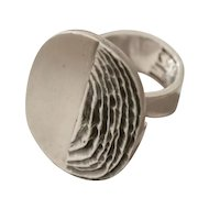 Jane and Finn Sterling SIlver Modernist Ring No. 553
