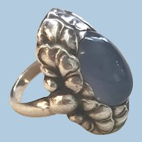 Georg Jensen Sterling Silver Ring No. 11 with Moonstone