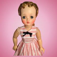 Pink oxford stripe dress for Cissy