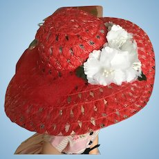 Red hat for Cissy or 50's fashion doll