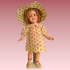 """Great dress and hat for 20"""" compo Patsy or Shirley"""