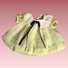 Yellow Shirley Temple doll dress