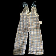 Original tagged Shirley Temple doll checked overalls