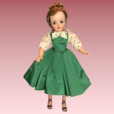 Gorgeous 1957 Green Taffeta Cissy dress