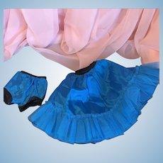 Turquoise taffeta cancan and panties Cissy