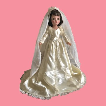Wedding gown and veil for Cissy size dolls