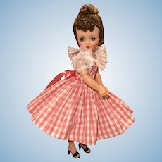 Fancy checked square dance dress for Cissy and friends