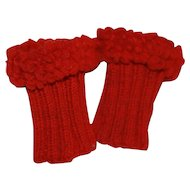 Antique Hand Knit Wristlets for China, French Fashion, Bisque Doll