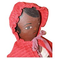 Antique Red Dot Cape for Early Cloth, China or Papier Mache Dolls