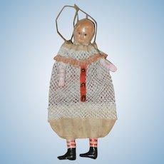 Celluloid Christmas Bag Doll Charming!