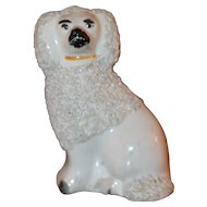 3 1/2 in. Antique Staffordshire Dog for China, French Fashion Dolls