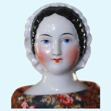 RARE Bonnet Head China Doll Early Wood Limbs