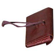 1 1/4 x 1inch Antique Purse/Portfolio with Strap for French Fashion, China Doll