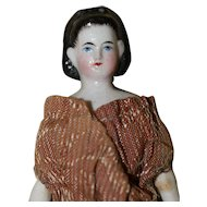 Antique China Doll House Doll Snood, Bow AO