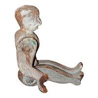 Antique Wood Acrobat Doll Pre 1900 Folk Art