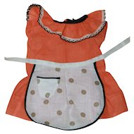 Sweet Dress and Apron for Composition or Plastic Doll