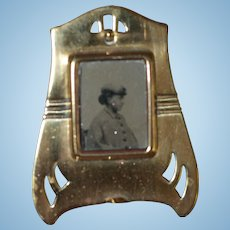 Antique Miniature Photo for French Fashion, Bisque Dolls