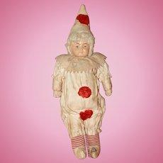 Celluloid Christmas Clown Doll