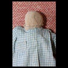 Faceless Cloth/China Antique Make Do Doll