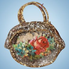 Antique Christmas Purse  for China, Bisque Dolls