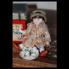 Tiny Vintage Tea Set for Mignonette Doll House Size