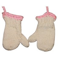 Small Vintage HM Doll Mittens Plastic Composition Dolls