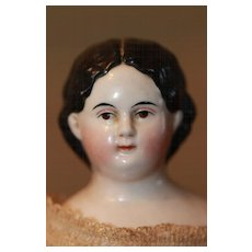 Antique Wavy Hair Greiner China Doll A/O
