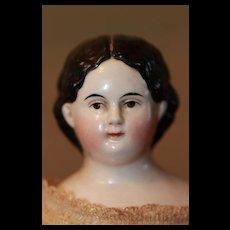 Antique Wavy Hair Greiner China Doll A/O