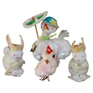 Vintage Easter Chenille Chicks and Bunnies