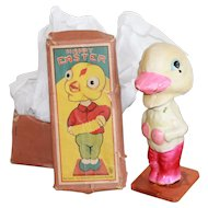 Bobble Head Easter Duck w/ Box for Vintage, Antique Dolls