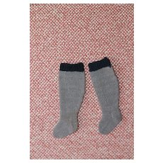 Small Knit Stockings for Bisque, China, Cloth Doll