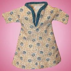 Antique 2 Calicos Dress for China, Cloth Doll