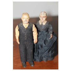 Ca.1870 Hand Carved Wood Dolls East Coast