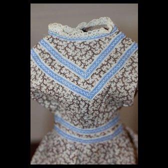 Antique Calico Dress China Doll