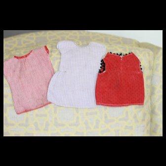 3 Dress For Bisque, Composition Dolls