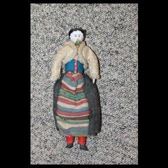 Antique Dollhouse China Doll
