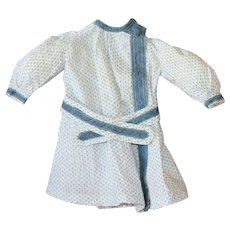 Antique Dress Blue Calico w/Belt